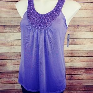 Gorgeous purple jeweled A.Byer tank S